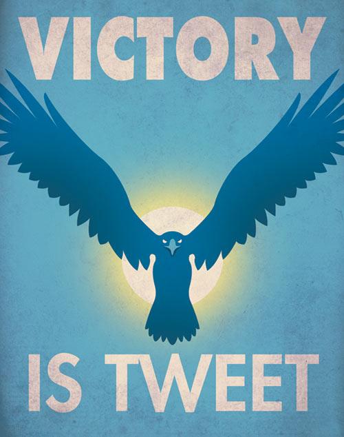 Victory is Tweet